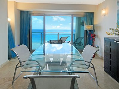 Cupecoy condo rental - Wake up & be inspired!Meals taste whole lot better with an endless view of blues