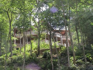 Lake Nantahala cabin rental - Mountain and lake views from every room