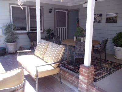 Outdoor Dining and Entry Door
