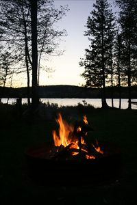 Relaxing bonfires