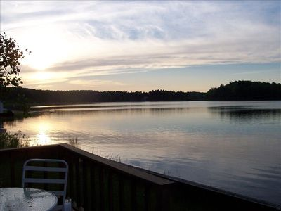 Enjoy sunsets from your lakeside deck