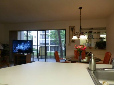 Dining Area and Balcony from Kitchen