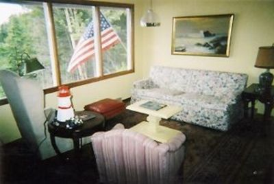 Campobello Island cottage rental - Bay window w/ gorgeous ocean view