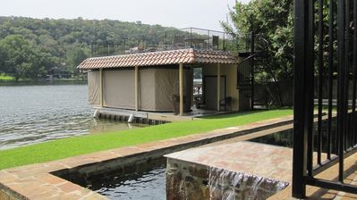 Austin estate rental - Boat dock. Wake Board boat. Jet Ski. Entertainment deck.