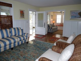 Rehoboth Beach house photo - Living room and den, with door open to screen porch.