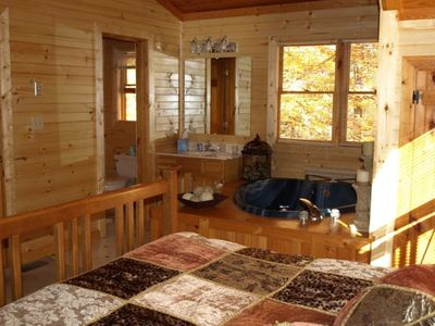 1 of 3 Master Bedrooms with Master Baths (one on each level of cabin)