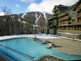 Stowe condo photo - This three bedroom stay overlooks the pool and the mountains