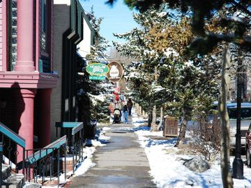 Main Street Breckenridge - just a short half block stroll