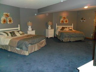 Brethren house photo - Lower level bedroom with 2 queens, 42 inch HD TV
