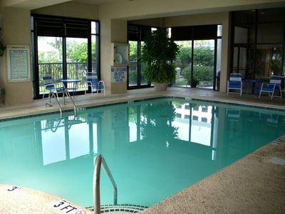 Indoor pool....Always at the perfect temperature, year round, rain or shine