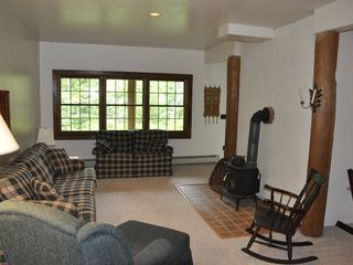 Piseco Lake lodge photo - Ground Floor Living Area with Pull-out Couch.