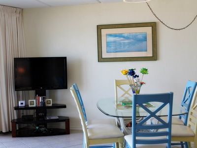 South Padre Island condo rental - Flat Screen TV. Some DVDs and Books available.