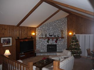 Lake Arrowhead house photo - Family Room at Christmas