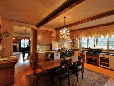 French country kitchen with wet bar is an amazing place for entertaing.......