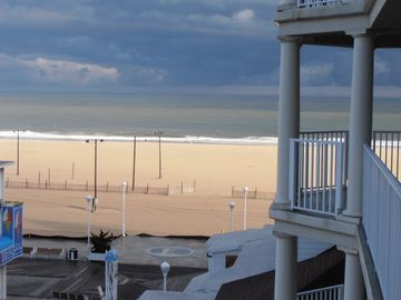 Belmont Towers Ocean City condo rental - Have coffee on your deck with the view