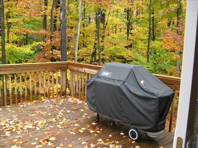 Enjoy the fall foliage from the upper deck