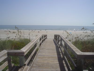 Private Boardwalk to Wide White Sandy Beach
