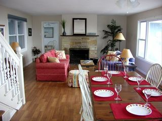 New Buffalo house photo - Dining and living room with great lake view.