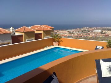 Costa Adeje house rental - Pool with fantastic ocean-view
