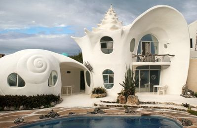 CASA CARACOL CARIBBEAN PARADISE UNIQUE HOME - Shell House