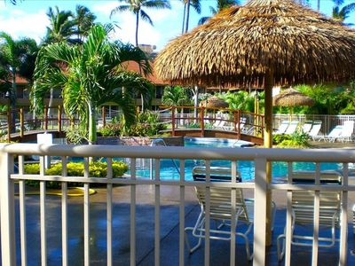 Kaanapali condo rental - Pool, Spa, Kiddie Pool, with Bridge & Waterfall