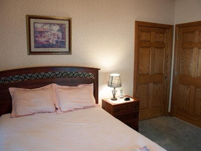 Beautiful main floor handicapped-friendly queen sized bedroom, over sized doors