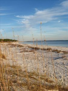 The beautiful and deserted Carrabelle Beach