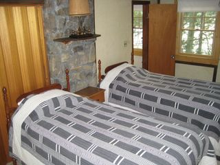 Master bedroom on the 2nd floor. Twin beds can be joined as a 'king' bed. - Alton house vacation rental photo