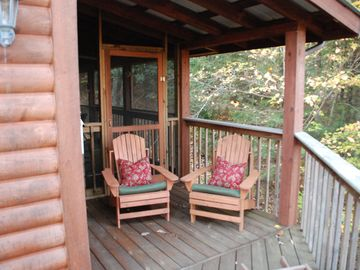 Adirondack or Rocker? It's your choice on the porch