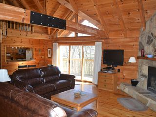 Gatlinburg chalet photo - The kitchen sits at the back of the living area. Also a nice view from the couch