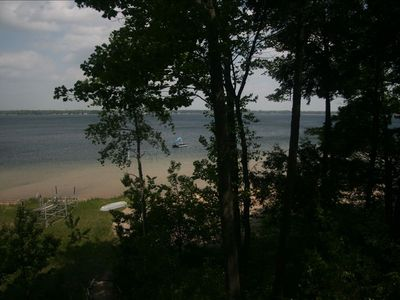 Enjoy the beach area and the warm water of Lake Missaukee.
