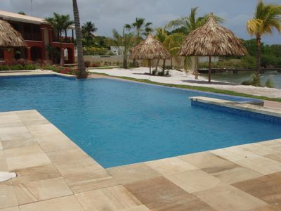Anyone for a swim, or lounge around the pool or under shady palapas?