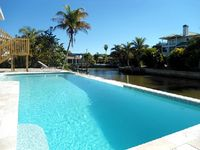 Island Villa with 33 Foot Infinity Pool and Boat Access, Dolphin Visits