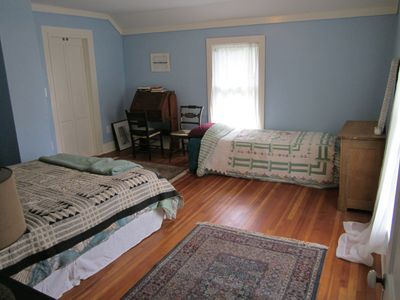 Arkville house rental - Bedroom #2 with queen and twin bed.