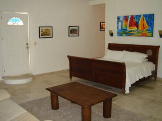 Playa del Carmen house photo - Second story master bedroom-overlooks pool. King bed plus sleeper sofa plus twin