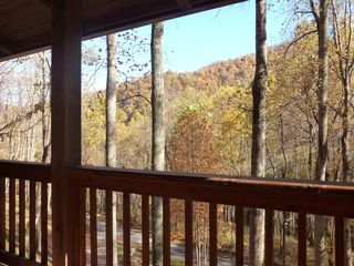 Hot Springs cabin photo - Peaceful wooded mountain views & sounds of the bold creek.