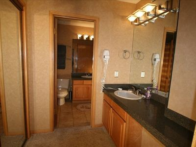 Master Bathroom (full) with adjoining vanity area