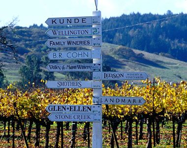 Located two miles from Hwy 12 (aka - Sonoma Hwy, peppered with wineries)