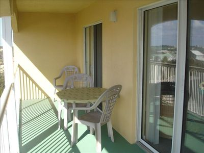 Frangista Beach condo rental - Recently Repainted Building and patios!!!!