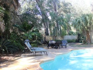 Amelia Island house photo - Private Pool & fire pit area.