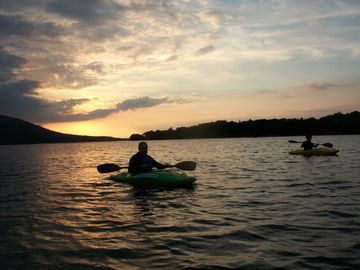 Evening sunset - kayak trip on Killarney Lakes