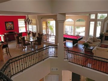Hermosa Beach townhome rental - Open floor plan with a pool table!! Perfect for entertaining!