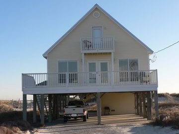 Fort Morgan house rental - Front (Bay side) of house