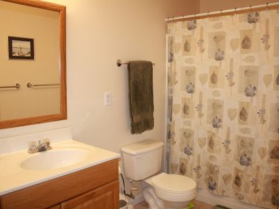 Master bath with double basin sink