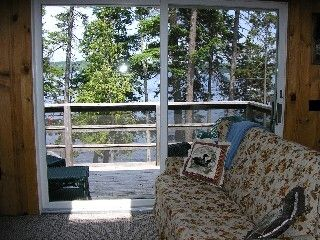 View from Living Room-Sliding Glass Door to Deck