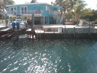 Key Largo house photo - Rear view from across the canal