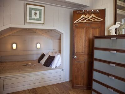Cozy, romantic sleeping bedroom #2 with original sleeping bunk