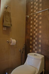 2nd bedroom private bath. Both private baths have bidet spray feature.