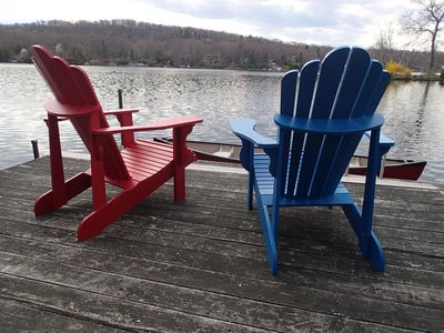 Sit, relax and enjoy our lakefront.