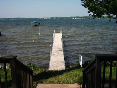 View from Deck Looking at Lake & New Dock